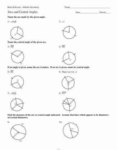 Central and Inscribed Angle Worksheet Ideas 32 Arcs Central Angles and Inscribed Angles Worksheet