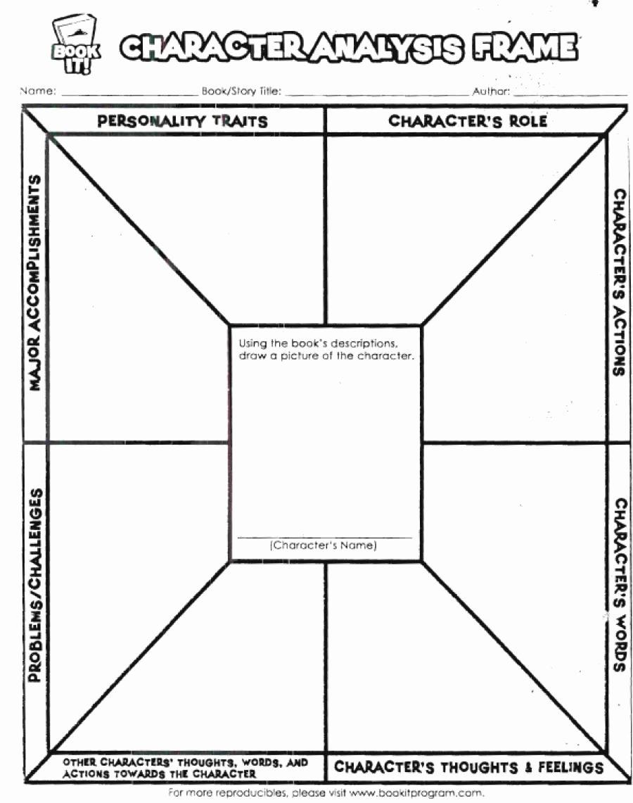 Character Analysis Worksheet High School New Character Analysis Worksheet