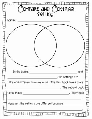 Character Setting and Plot Worksheets Fresh Pare and Contrast Characters Setting Plot and theme
