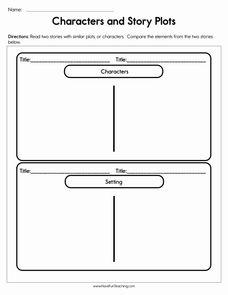 Character Setting and Plot Worksheets Lovely Characters and Story Plots Worksheet