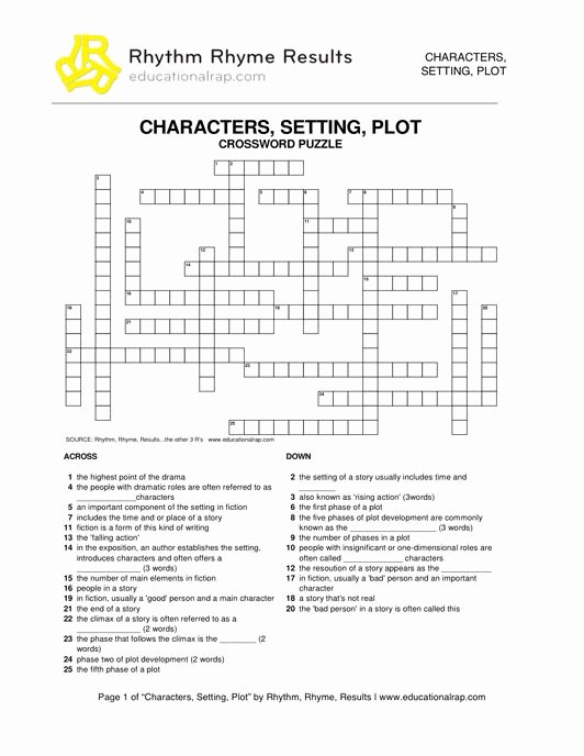 Character Setting and Plot Worksheets Lovely Teaching Characters Setting and Plot with songs and Free