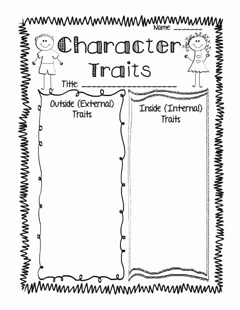 Character Traits Worksheet 2nd Grade Fresh Pin On Educational Worksheets Template
