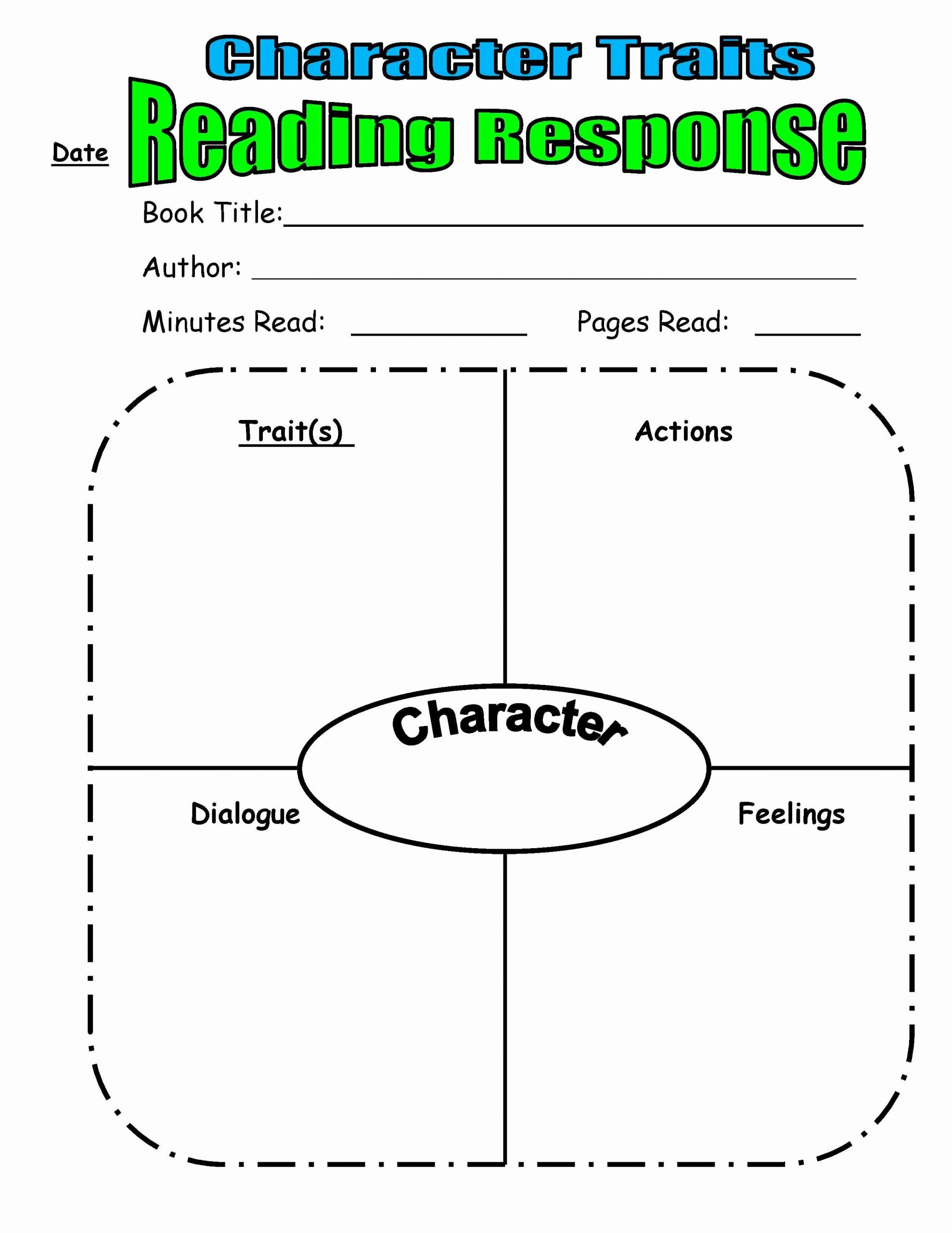 Character Traits Worksheet 2nd Grade Fresh Teaching Character Traits In Reader S Workshop