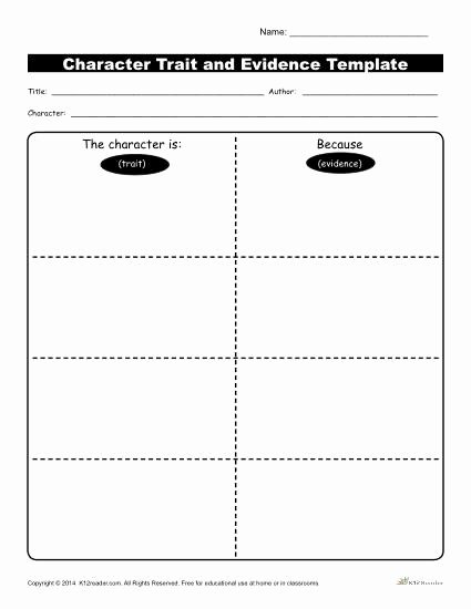Character Traits Worksheet 3rd Grade New Character Traits Workshsheets