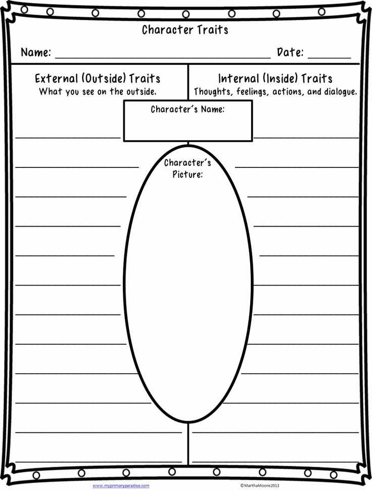 Character Traits Worksheet 3rd Grade top Quite A Character Teaching Character Traits