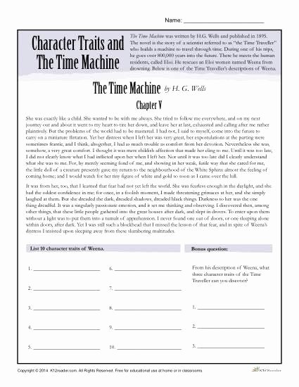 character traits and the time machine