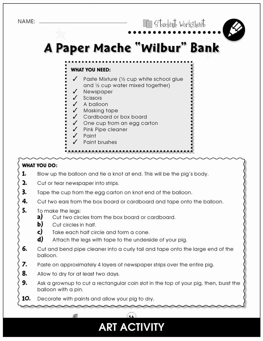 Charlotte Web Character Traits Worksheets New Charlotte S Web Bonus Worksheets Grades 3 to 4 Ebook