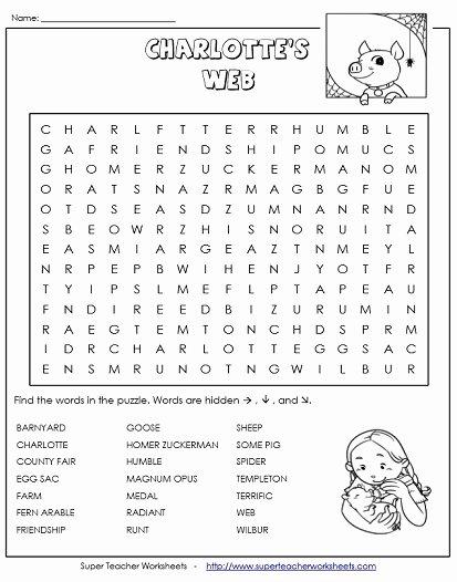 Charlotte Web Character Traits Worksheets top Charlotte S Web