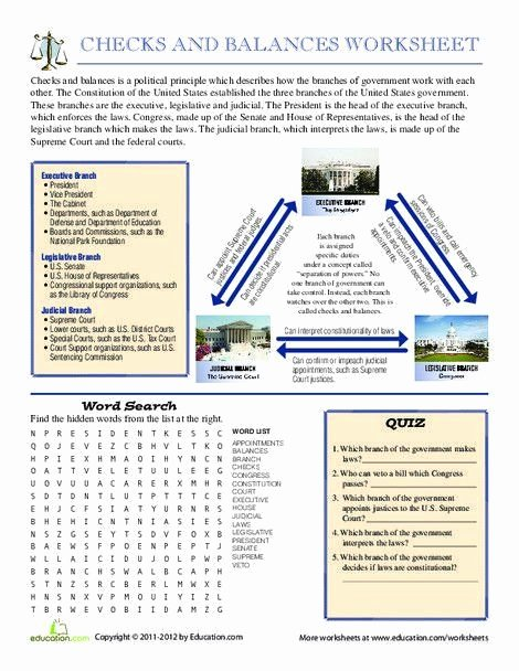 Checks and Balances Worksheet Answers New Checks and Balances Worksheet Answers Checks and Balances