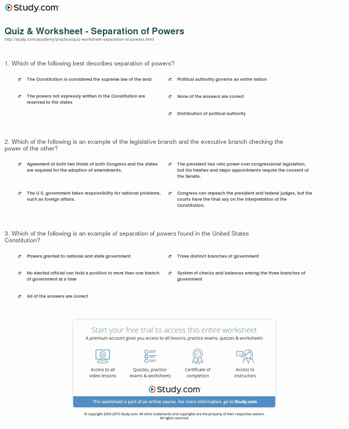 Checks and Balances Worksheet Answers Printable Checks and Balamces Worksheet
