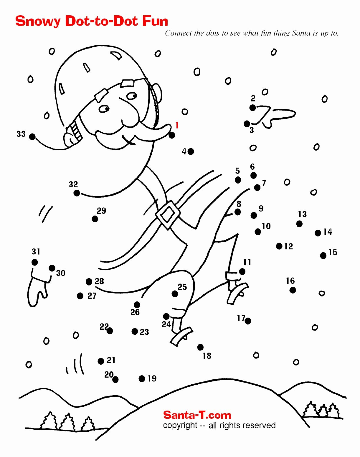Christmas Connect the Dots Printables Printable Awesome Connect the Dots Coloring Pages for Teens