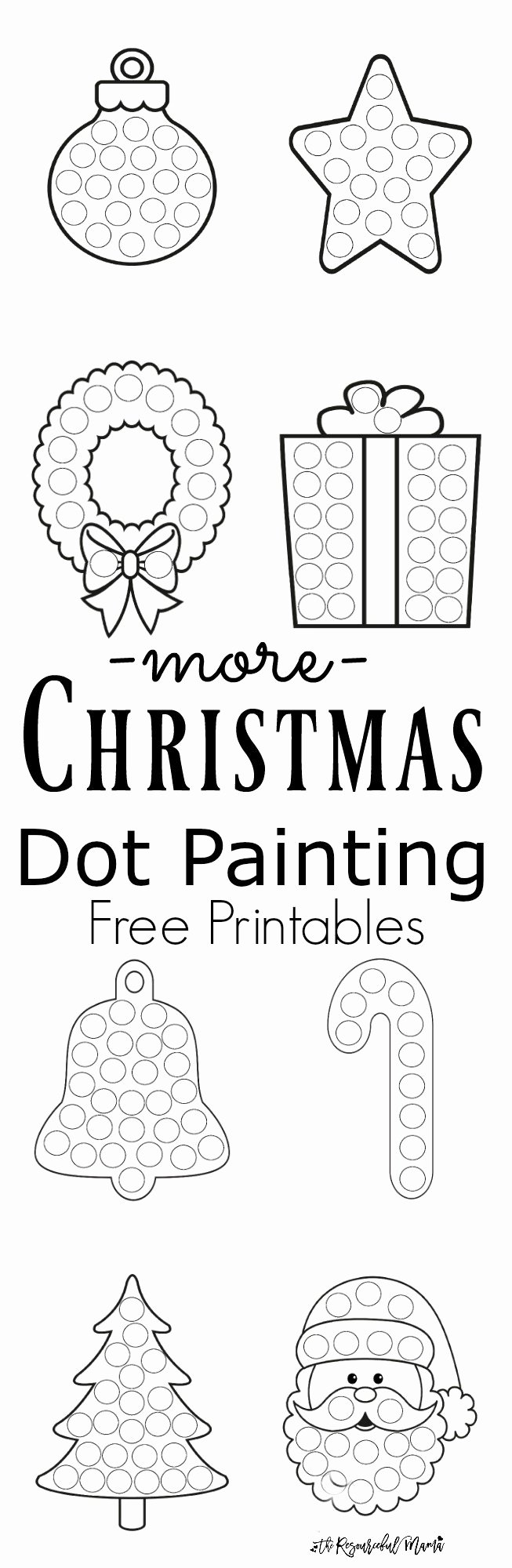 Christmas Dot to Dot Printables Fresh More Christmas Dot Painting Free Printables the