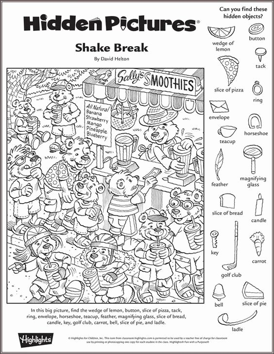 Christmas Hidden Picture Puzzles Printable Ideas Shake Break Hidden Puzzle Highlights Printables