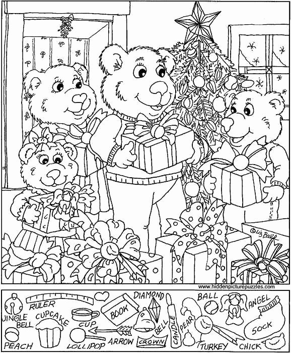 Christmas Hidden Picture Puzzles Printable Kids Breathtaking Christmas Hidden Picture Printable