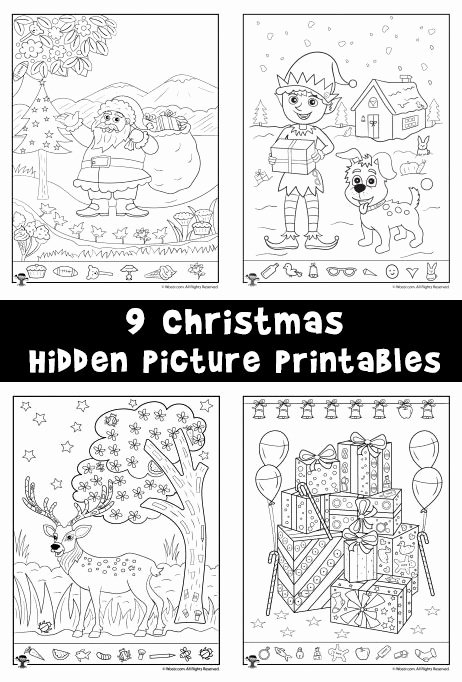 Christmas Hidden Picture Puzzles Printable Lovely Christmas Hidden Printables for Kids