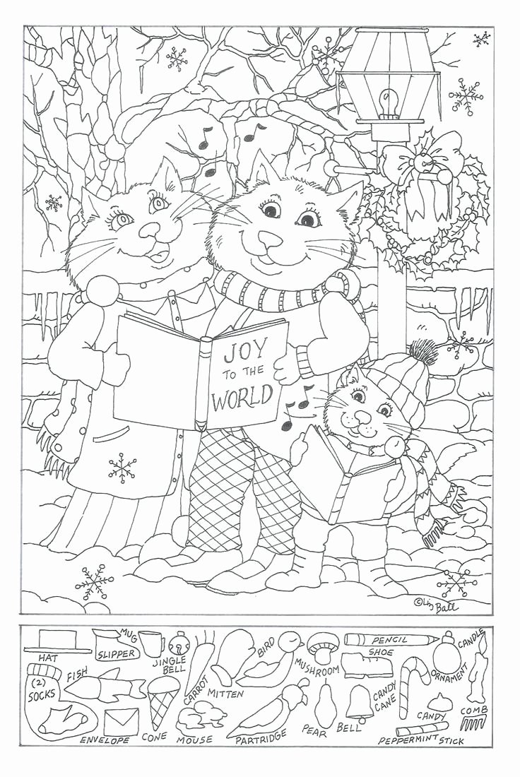 Christmas Hidden Picture Puzzles Printable Lovely Hidden Free Printable Object Games for Christmas