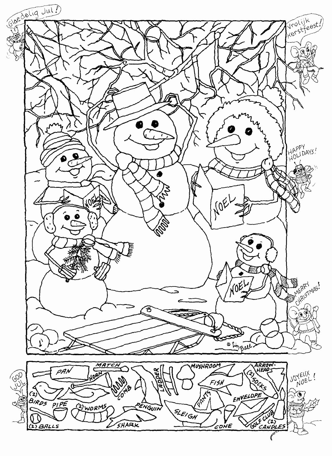Christmas Hidden Picture Puzzles Printable Lovely Hidden Publishing Snowman Hidden Picture Puzzle