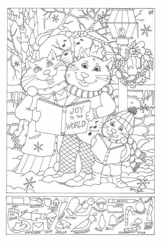 Christmas Hidden Picture Puzzles Printable New Christmas Hidden Pictures