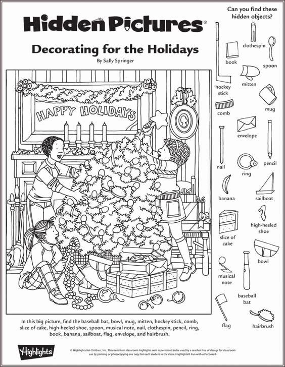 Christmas Hidden Picture Puzzles Printable top Christmas Hidden Picture Puzzles Printable Highlights In the