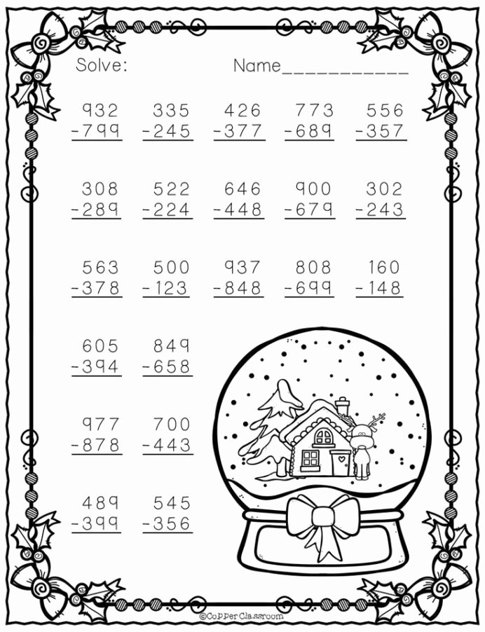 Christmas Math Worksheets 4th Grade Printable Free Christmas Math Worksheets for 4th Grade Worksheets