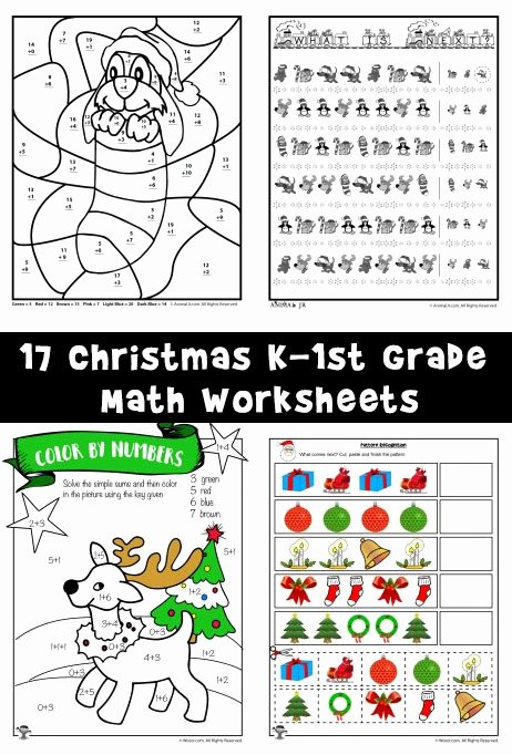 Christmas Math Worksheets for Kindergarten Lovely Free Printable Christmas Math Worksheets Pre K 1st Grade
