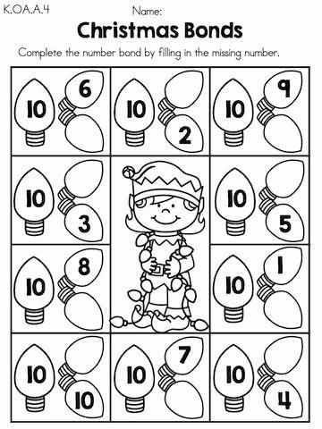 Christmas Math Worksheets for Kindergarten Printable Christmas Math Worksheets Kindergarten