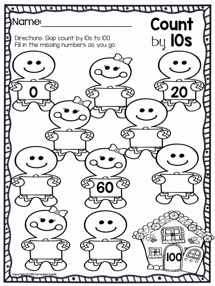 Christmas Math Worksheets for Kindergarten top Worksheet Best Counting Math Worksheets