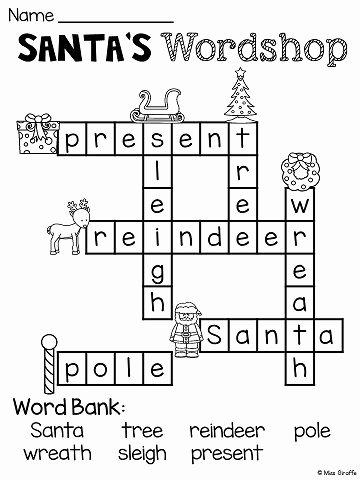 Christmas Worksheets for First Grade Fresh Free Christmas No Prep Worksheets