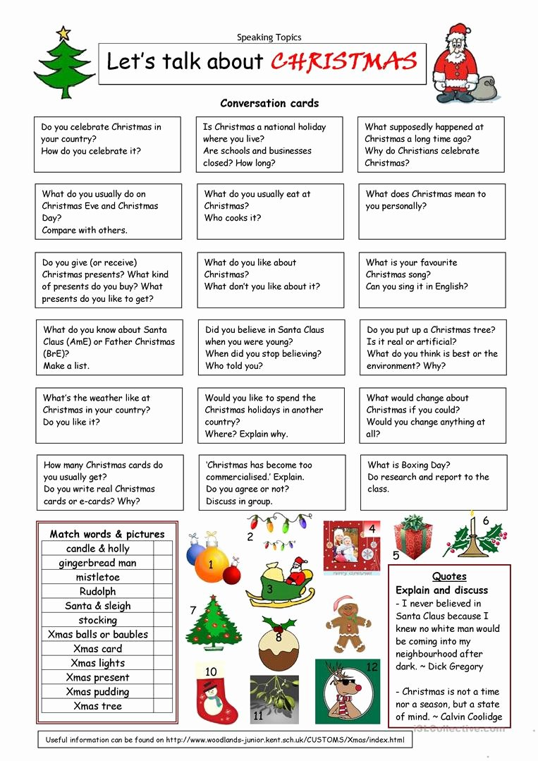 Christmas Worksheets for Middle School Kids English Esl Christmas Worksheets Most Ed 995 Results