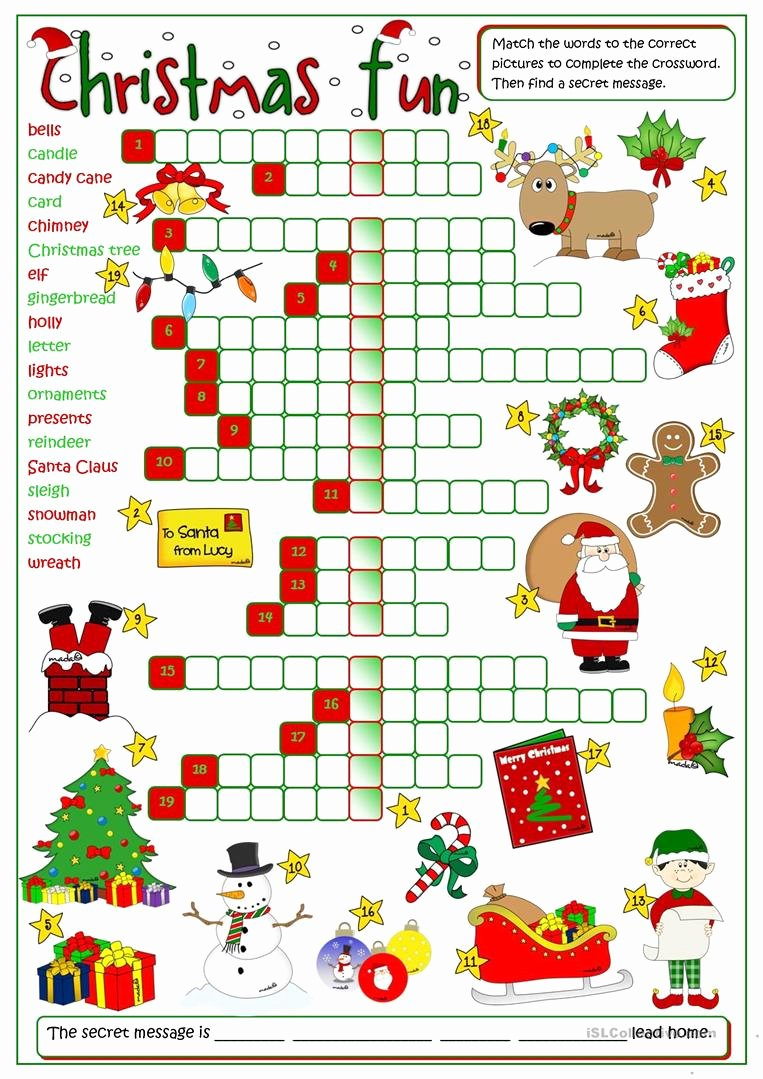 Christmas Worksheets for Middle School top English Esl Christmas Worksheets Most Ed 995 Results