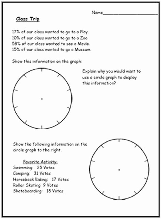 Circle Graphs Worksheets 7th Grade top Pin On Math Data