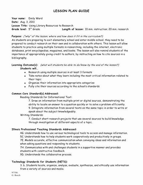 Citing sources Worksheet 5th Grade Inspirational Research Paper Lesson Plans 5th Grade