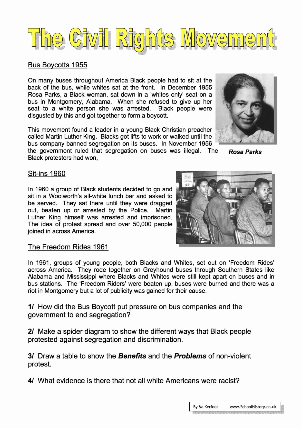 Civil Rights Worksheets Middle School Fresh the Civil Rights Movement Worksheets Year 9 Free Pdf