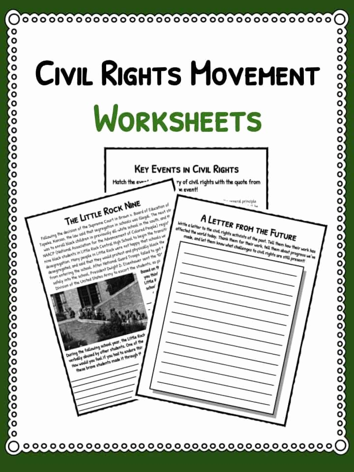 Civil Rights Worksheets Middle School Lovely 35 Civil Rights Movement Worksheet Answers Worksheet