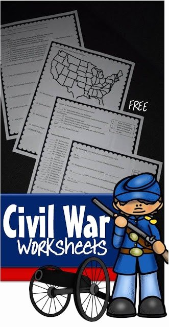 FREE2BCivil2BWar2BWorksheets2Bfor2BKids