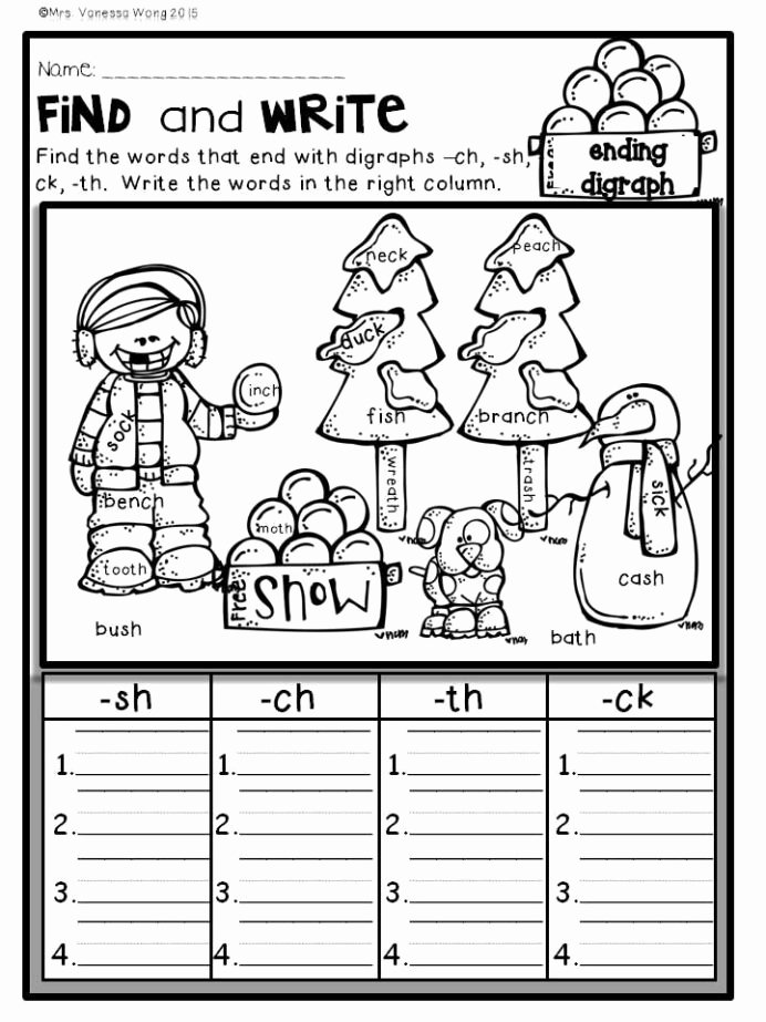 Ck Worksheets for 1st Grade Printable Winter Math and Literacy No Prep Printables First Grade Free