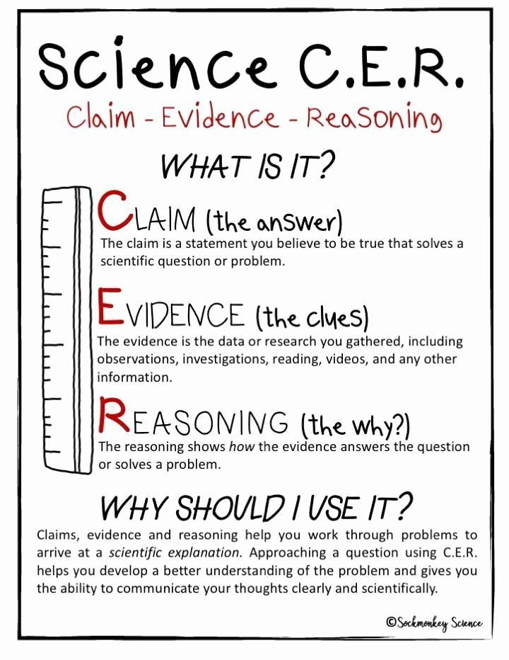 Claim Evidence Reasoning Science Worksheet Best Of Claim Evidence Reasoning Science Worksheet Cer Digital