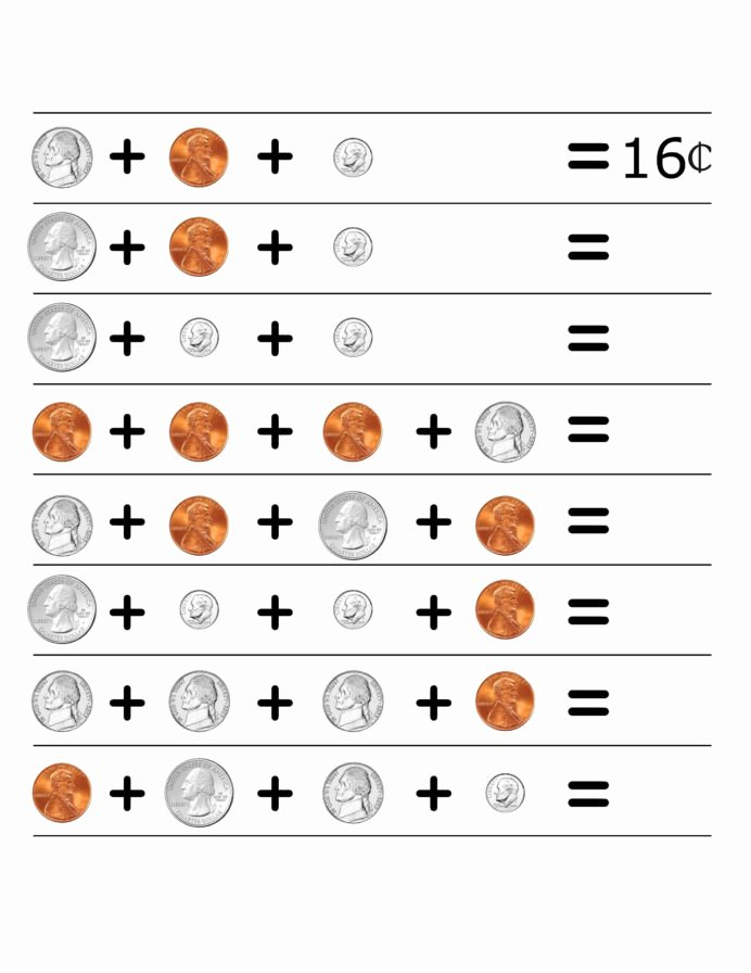 Coin Worksheets for 2nd Grade Fresh 2nd Grade Money Worksheets Best Coloring for Kids Coin Coins