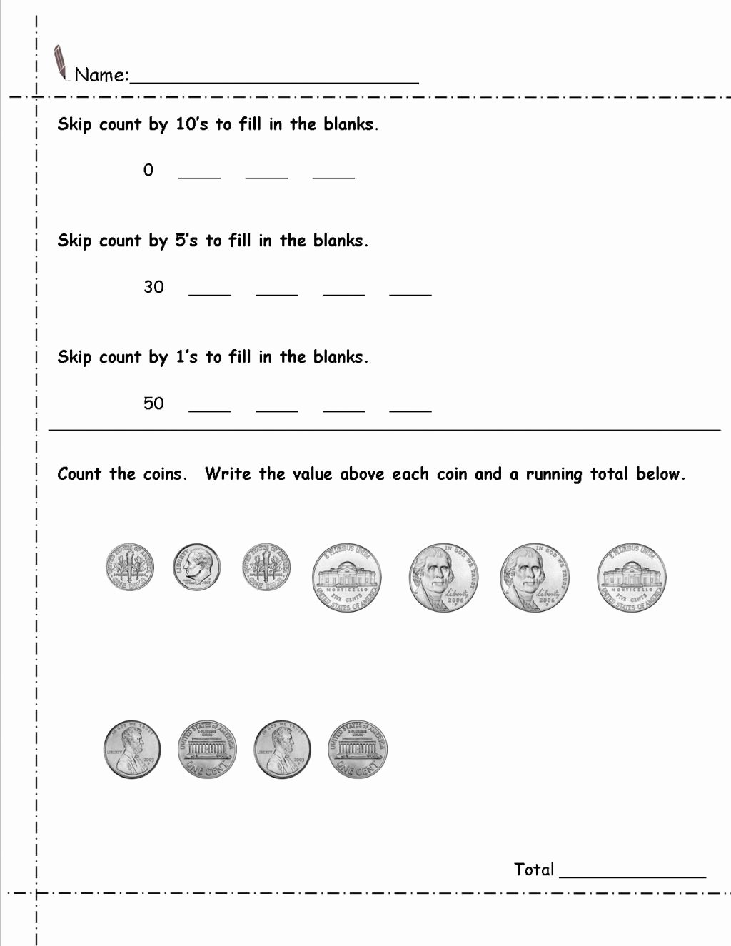 Coin Worksheets for 2nd Grade Printable Worksheet 2nd Grade Math Printable Worksheets Money Best
