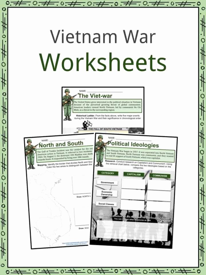 Cold War Reading Comprehension Worksheet Lovely Cold War Reading Prehension Worksheet Vietnam War Facts