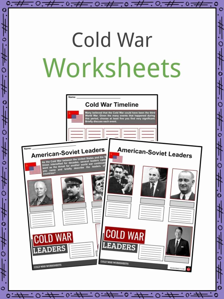 Cold War Reading Comprehension Worksheet Printable Cold War Facts Worksheets Historical Background & atomic