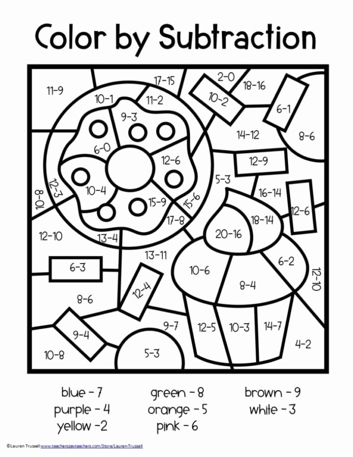 Color by Number Math Worksheets Best Of Coloring Pages 2nd Gradeth Worksheets Free Color by Number
