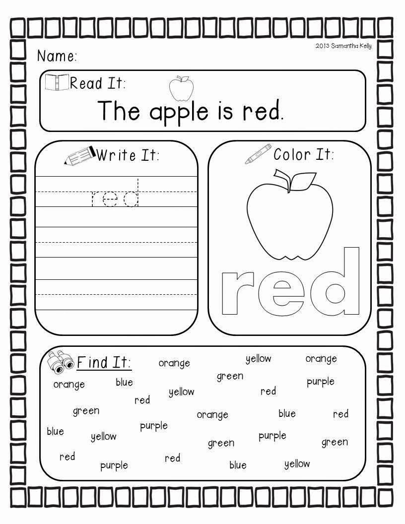 Color Red Worksheets for toddlers Best Of Mrs Kelly S Klass Crazy for Colors