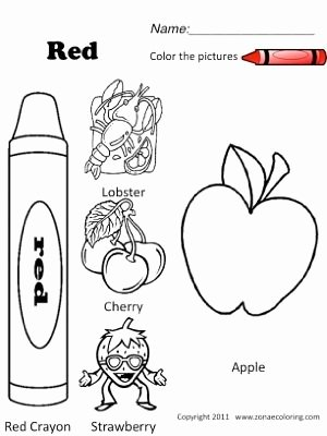 Color Red Worksheets for toddlers Lovely Coloring Pages Coloring Pages Red Objects Jpg Spanish