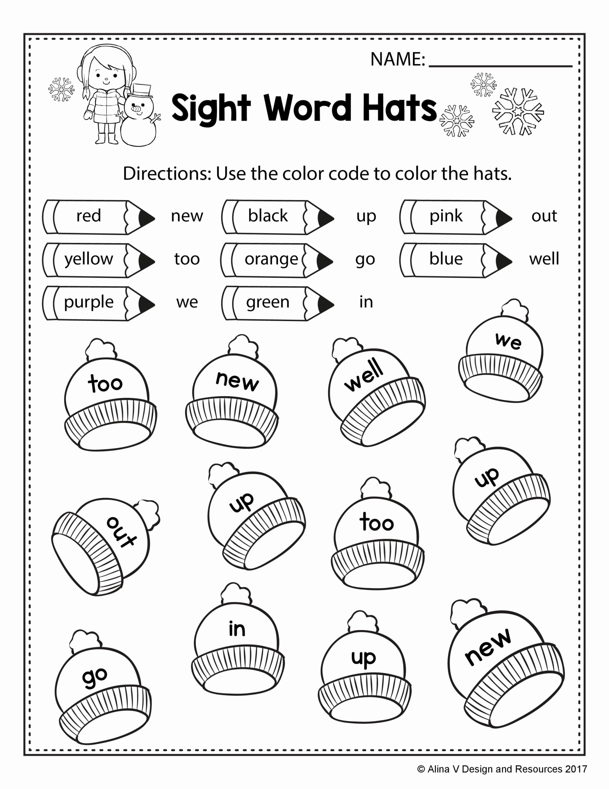 Color Word Worksheets for Kindergarten Inspirational Worksheets Coloring Freeght Word Worksheets Thanksgiving