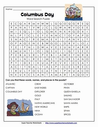 Columbus Day Reading Comprehension Worksheets top Columbus Day Worksheets