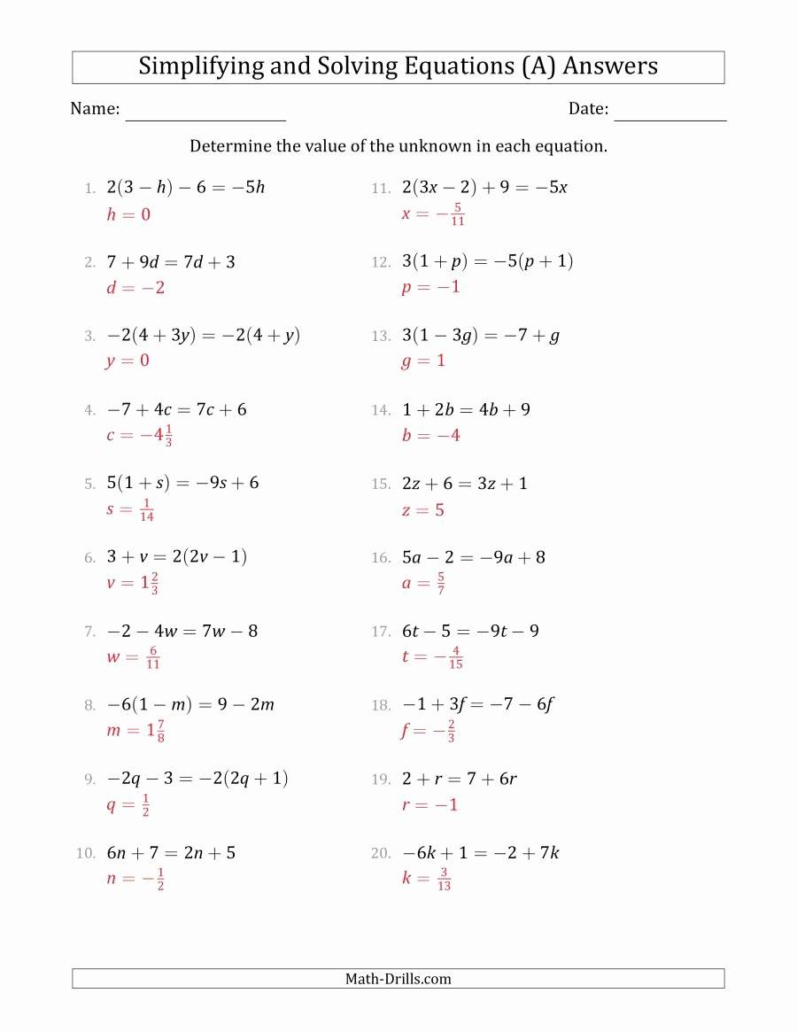 algebra linear equations bining terms solving 001