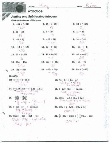 Combining Like Terms Worksheet Answers New 33 Bining Like Terms Practice Worksheet Answers