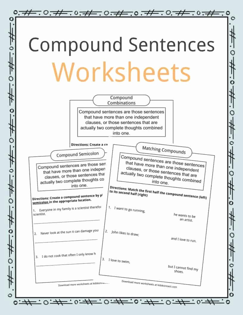 Combining Sentences Worksheet 5th Grade Kids Pound Sentences Worksheets Examples & Definition for Kids