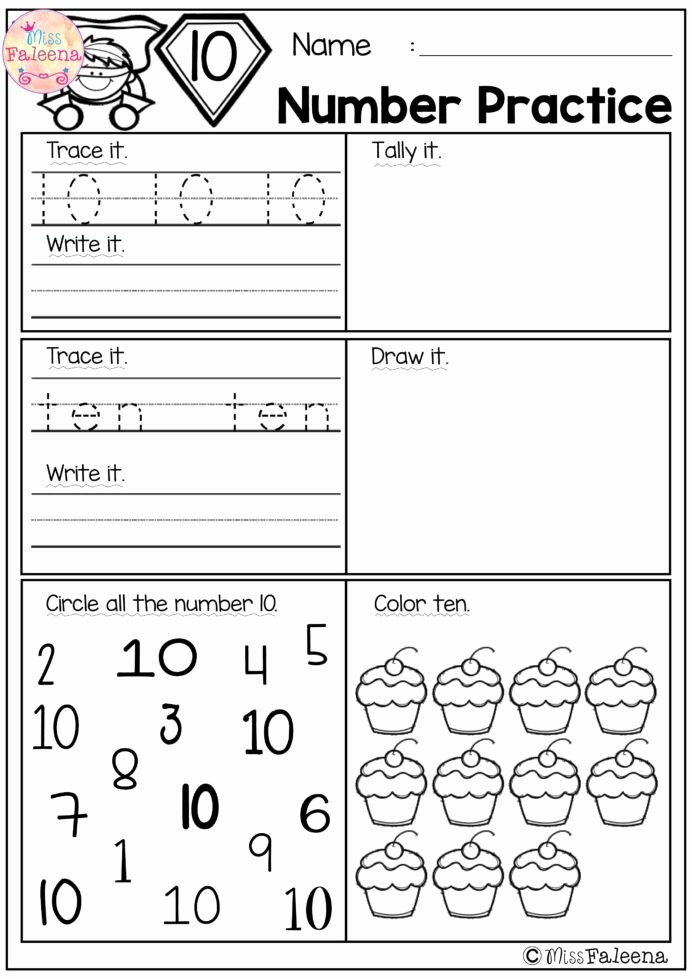 Common Core Kindergarten Math Worksheets Best Of Number Practice Set Kindergarten Math Worksheets Free First